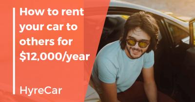 Ridesharing, rideshare, hyrecar, rent my car, car rental, mobility