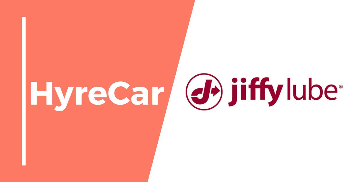 Hyrecar, hyrecar partnership, rideshare, ridesharing, jiffy lube