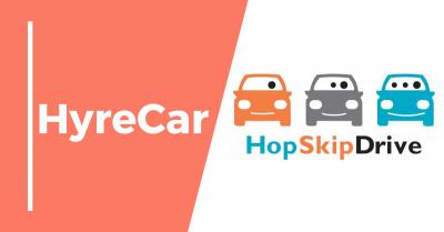 rideshare, ridesharing, hopskipdrive, hyrecar partnership, mobility