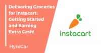 instacart, shopper, driving, groceries